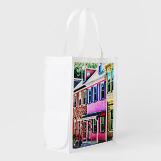 Jim Thorpe Pa - Colorful Street Reusable Grocery Bag