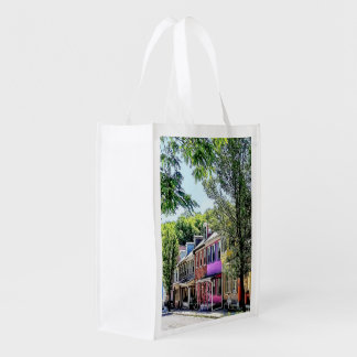 Jim Thorpe PA - Quaint Street Reusable Grocery Bag