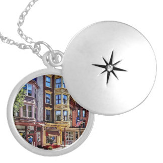 Jim Thorpe Pa - Shops Along Broadway Silver Plated Necklace