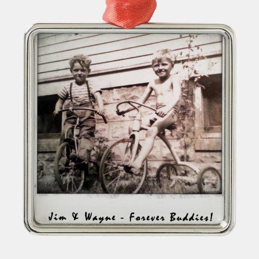Jim & Wayne Metal Ornament