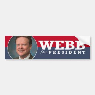JIM WEBB 2016 CAR BUMPER STICKER