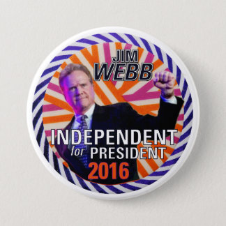 Jim Webb 2016 Pinback Button
