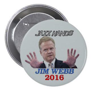 Jim Webb 2016 Pinback Button