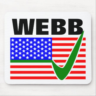 Jim Webb For President 2016 Mouse Pad