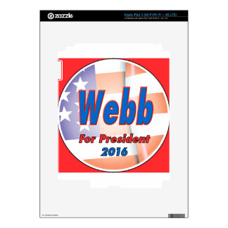 Jim Webb for President in 2016 iPad 3 Decal