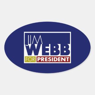 Jim Webb for President V1 Oval Sticker