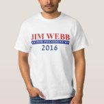 Jim Webb para el presidente 2016 Playeras