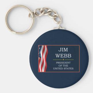 Jim Webb para presidente V3 Llavero Redondo Tipo Pin