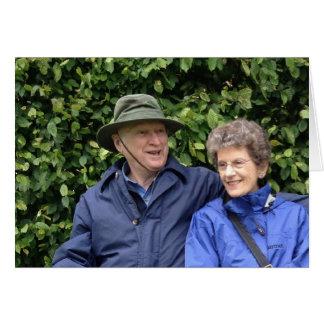 Jim y Betsy Tarjeta De Felicitación