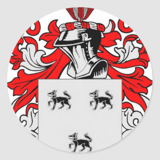 Jimenez Coat of Arms Classic Round Sticker