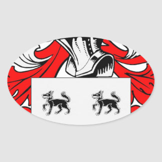 Jimenez Coat of Arms Oval Sticker