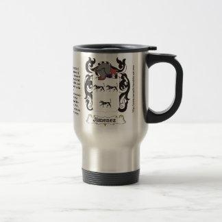 Jimenez Family Coat of Arms on a Travel Mug