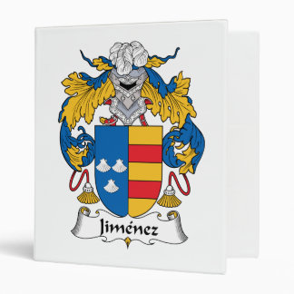 Jimenez Family Crest 3 Ring Binders