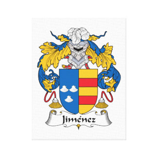 Jimenez Family Crest Canvas Print