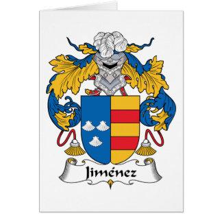 Jimenez Family Crest Greeting Card