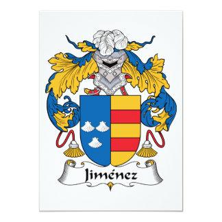 Jimenez Family Crest 5x7 Paper Invitation Card