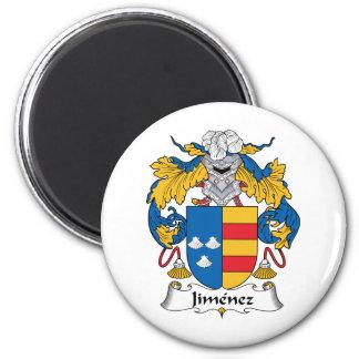 Jimenez Family Crest 2 Inch Round Magnet