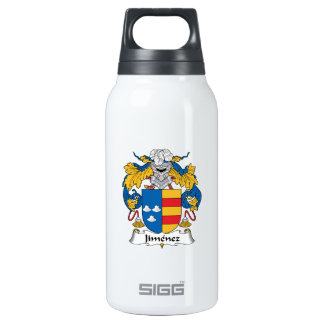 Jimenez Family Crest 10 Oz Insulated SIGG Thermos Water Bottle