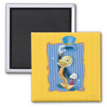 Jiminy Cricket Lifting His Hat 2 Inch Square Magnet