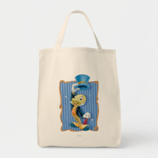 Jiminy Cricket Lifting His Hat Grocery Tote Bag