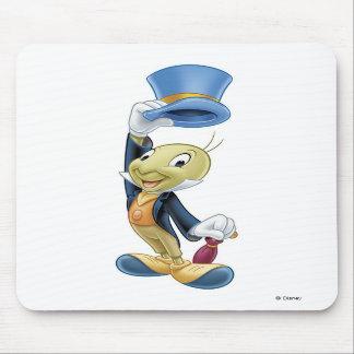 Jiminy Cricket Lifting His Hat Disney Mousepad