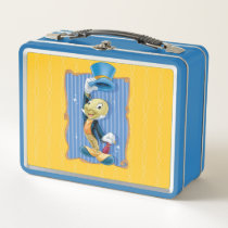 Jiminy Cricket Lifting His Hat Metal Lunch Box