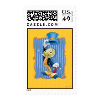 Jiminy Cricket Lifting His Hat Postage Stamp