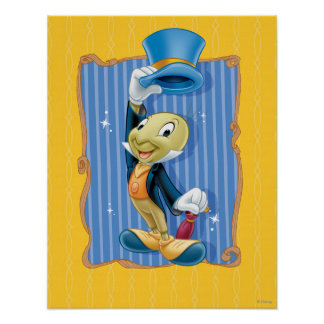 Jiminy Cricket Lifting His Hat Poster
