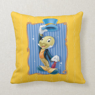 Jiminy Cricket Lifting His Hat Throw Pillow