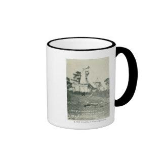 Jimmie Richardson jumping spoke. Ringer Coffee Mug
