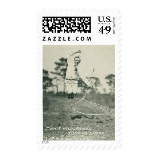 Jimmie Richardson jumping spoke. Postage Stamp