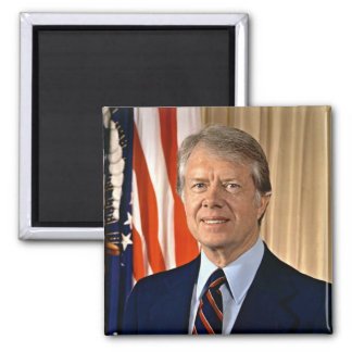 Jimmy Carter 2 Inch Square Magnet