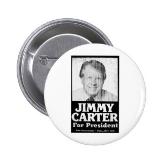 Jimmy Carter apenó blanco y negro Pins