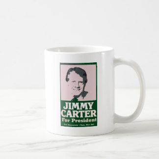 Jimmy Carter apenó mirada cortada Taza Básica Blanca