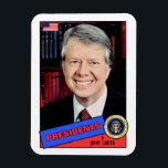 "Jimmy Carter Baseball Card Magnet<br><div class=""desc"">Jimmy Carter President Baseball Card</div>"