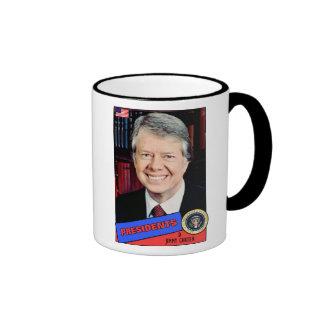 Jimmy Carter Baseball Card Ringer Coffee Mug