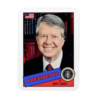 Jimmy Carter Baseball Card Rectangular Photo Magnet