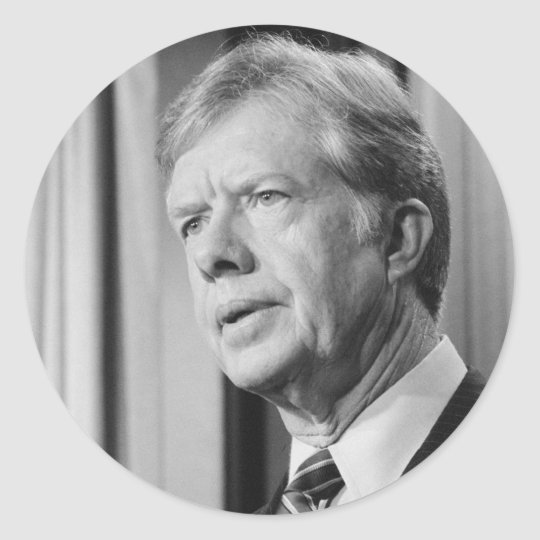 Jimmy Carter Classic Round Sticker