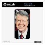 Jimmy Carter Decal For iPhone 4S