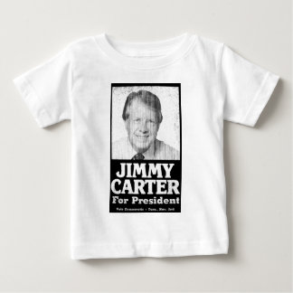 Jimmy Carter Distressed Black And White Baby T-Shirt