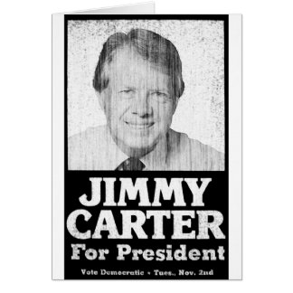 Jimmy Carter Distressed Black And White Card
