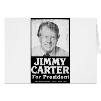 Jimmy Carter Distressed Black And White Greeting Card