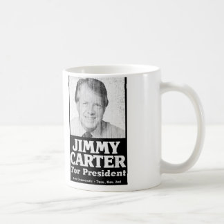 Jimmy Carter Distressed Black And White Coffee Mug