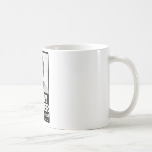 Jimmy Carter Distressed Black And White Classic White Coffee Mug