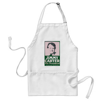 Jimmy Carter Distressed Cut Out Look Adult Apron