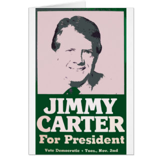 Jimmy Carter Distressed Cut Out Look Greeting Card