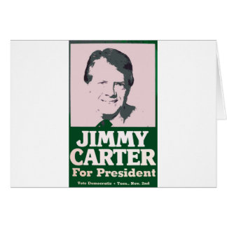 Jimmy Carter Distressed Cut Out Look Card