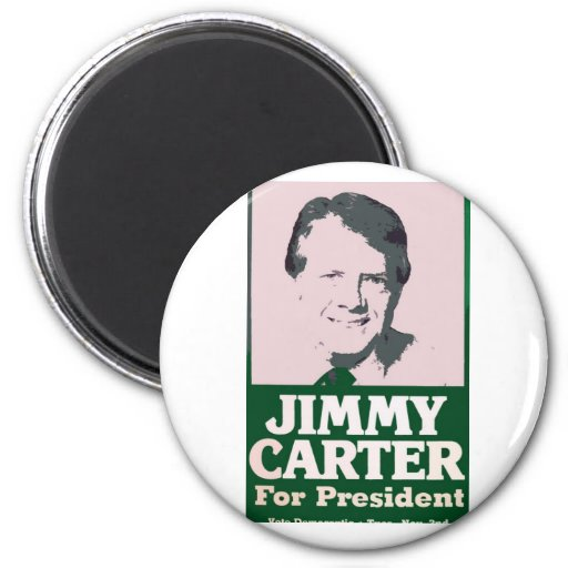 Jimmy Carter Distressed Cut Out Look Fridge Magnet