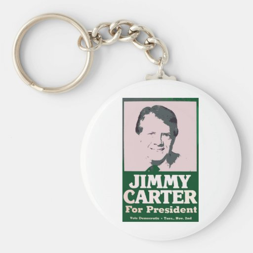 Jimmy Carter Distressed Cut Out Look Key Chains