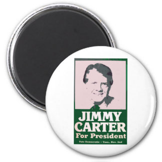 Jimmy Carter Distressed Cut Out Look Magnet